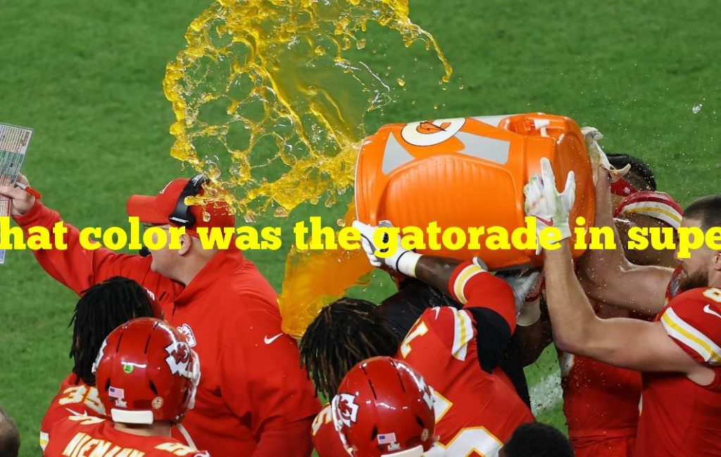 What color was the gatorade in super bowl 2020
