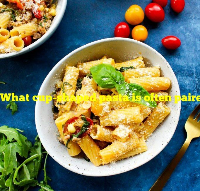 What cup-shaped pasta is often paired with autumn flavors?