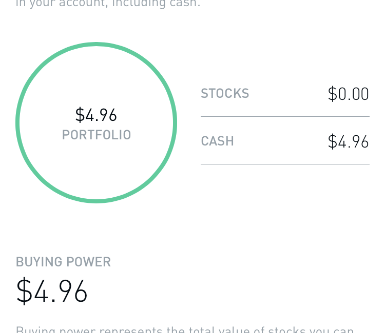 What does buying power mean on robinhood