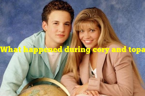 What happened during cory and topanga's graduation in boy meets world?