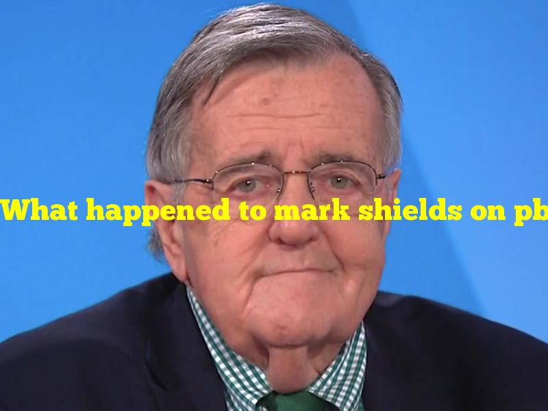 What happened to mark shields on pbs