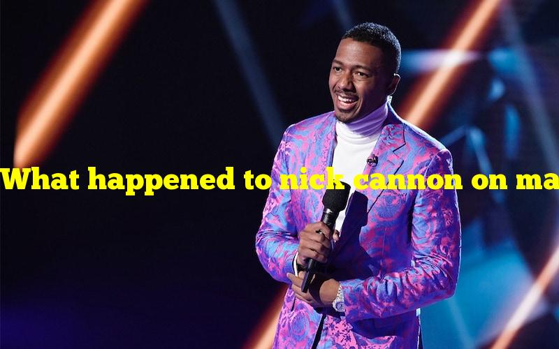 What happened to nick cannon on masked singer