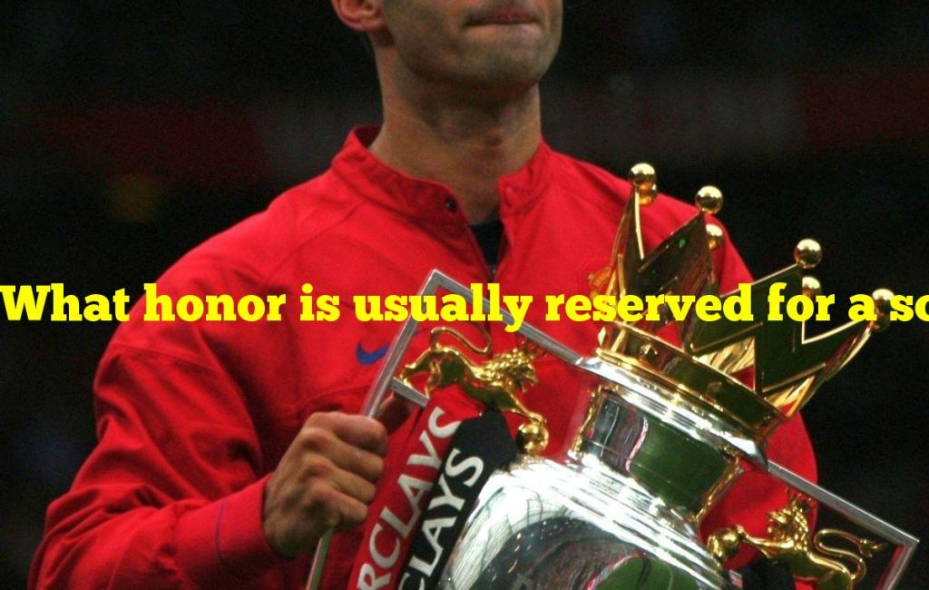 What honor is usually reserved for a soccer team's best player?