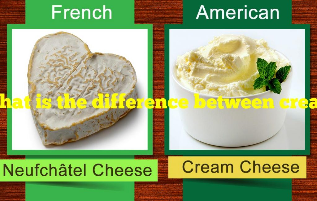 What is the difference between cream cheese and neufchatel cheese