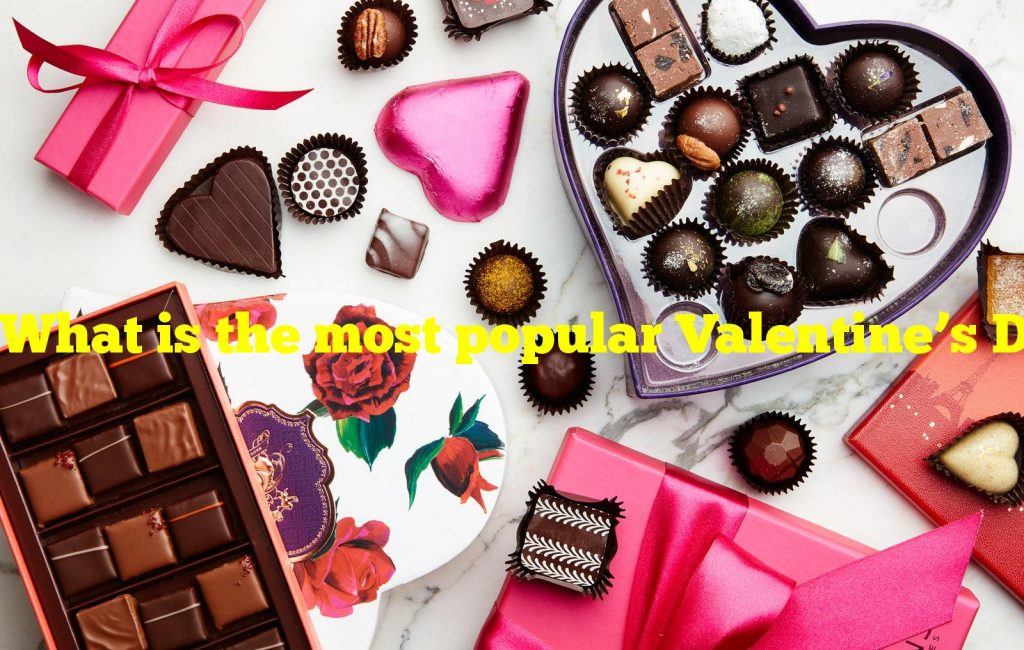 What is the most popular Valentine's Day chocolate flavor?