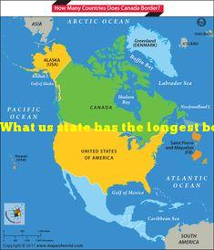 What us state has the longest border with canada?