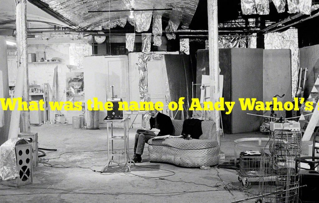 What was the name of Andy Warhol's studio?