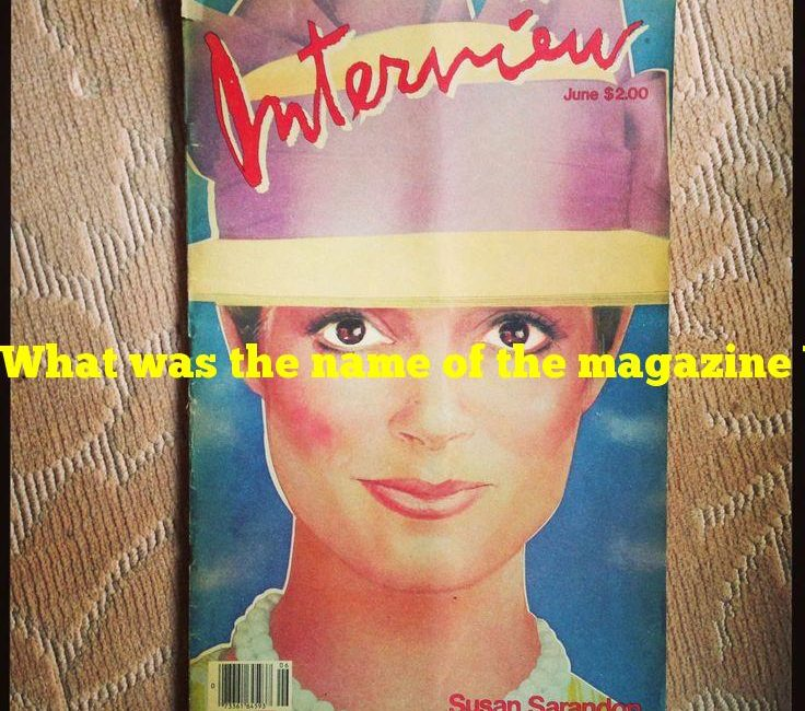What was the name of the magazine Warhol founded?
