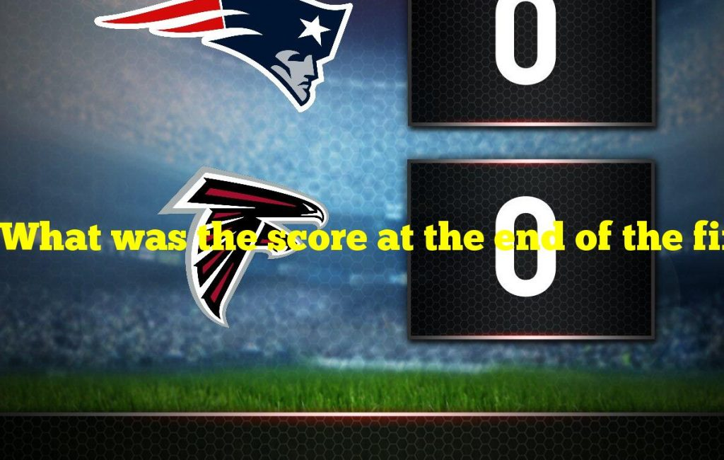What was the score at the end of the first quarter
