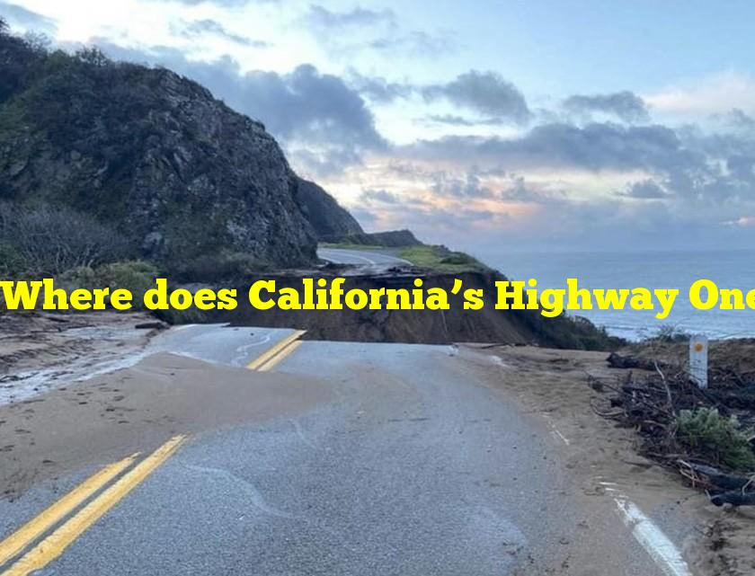 Where does California's Highway One travel?