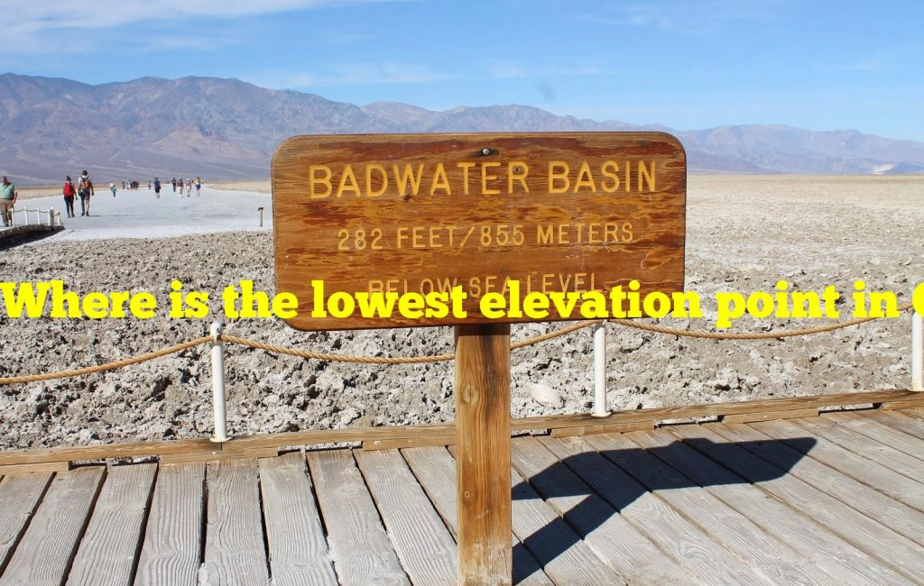 Where is the lowest elevation point in California?