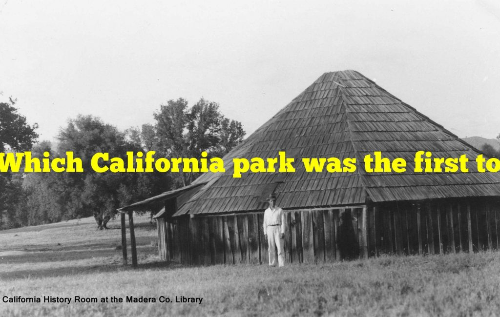 Which California park was the first to receive national park status?