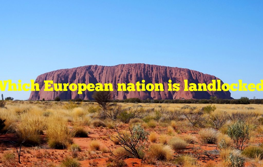 Which European nation is landlocked by a distance of just 6.2 miles?