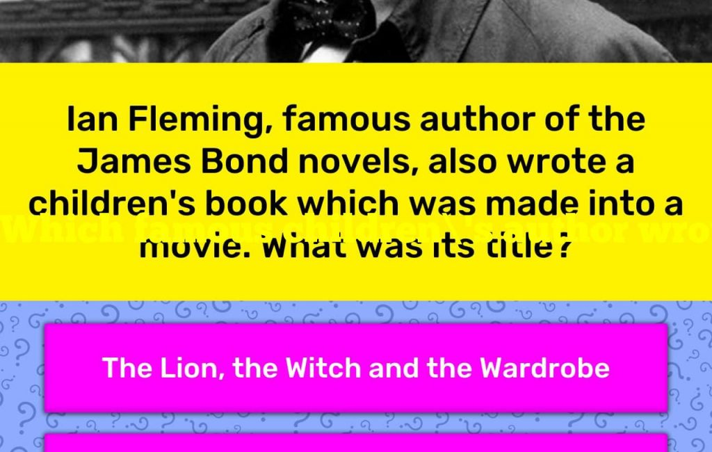Which famous children's author wrote a Bond movie?