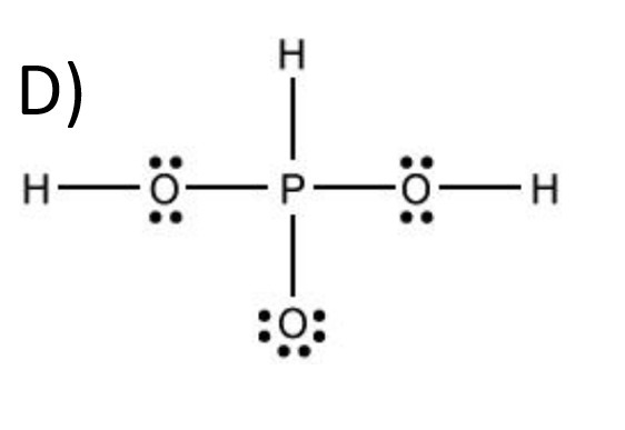 Which is the lewis structure for h3po4?