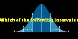 Which of the following intervals corresponds to the largest area under a normal curve?