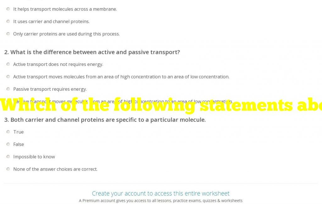 Which of the following statements about carrier proteins is false