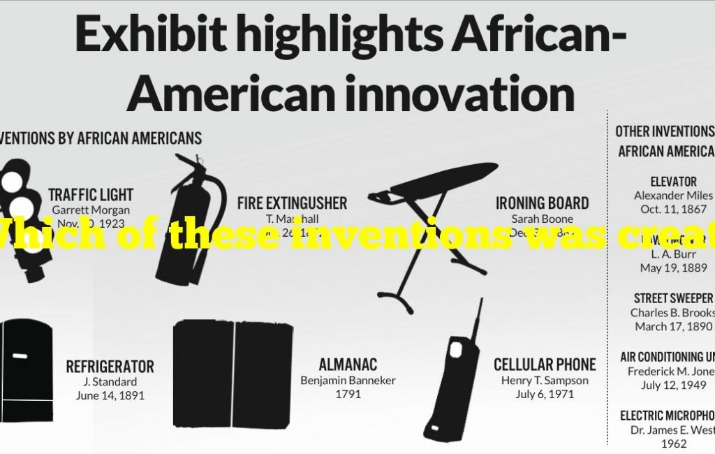 Which of these inventions was created by a Black American?