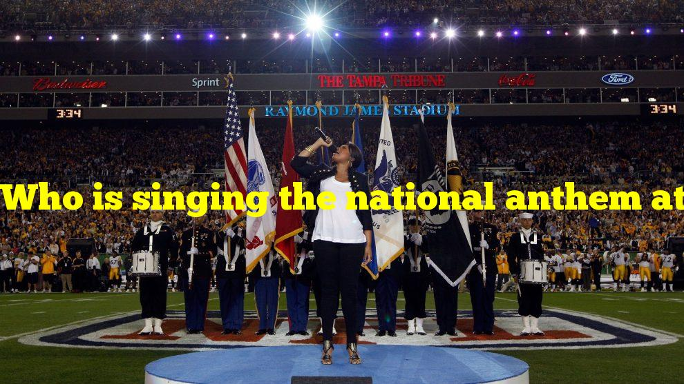 Who is singing the national anthem at the super bowl