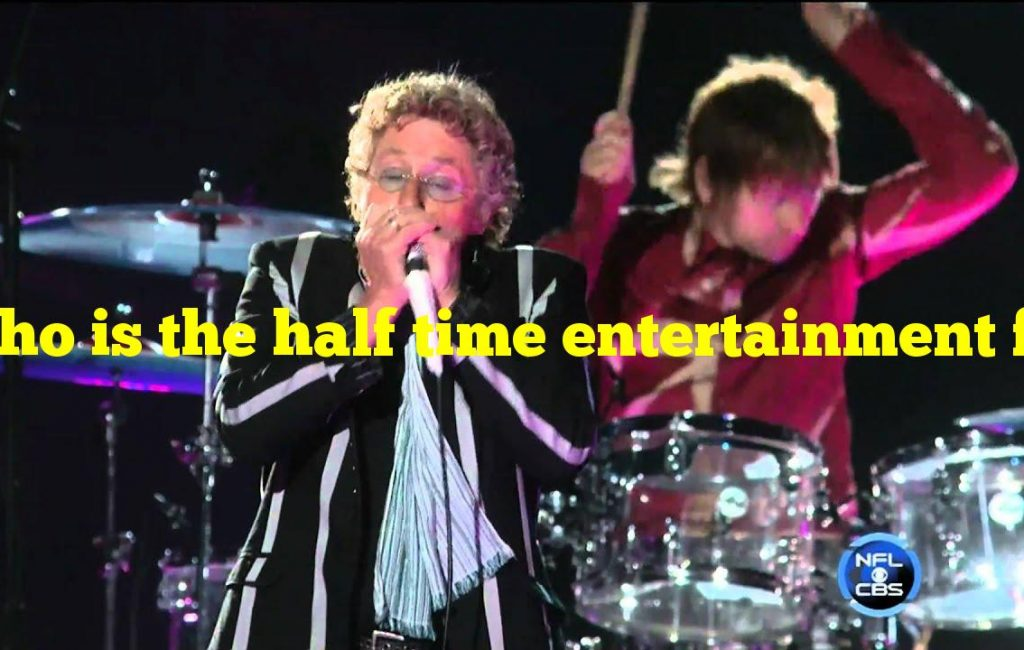 Who is the half time entertainment for the super bowl