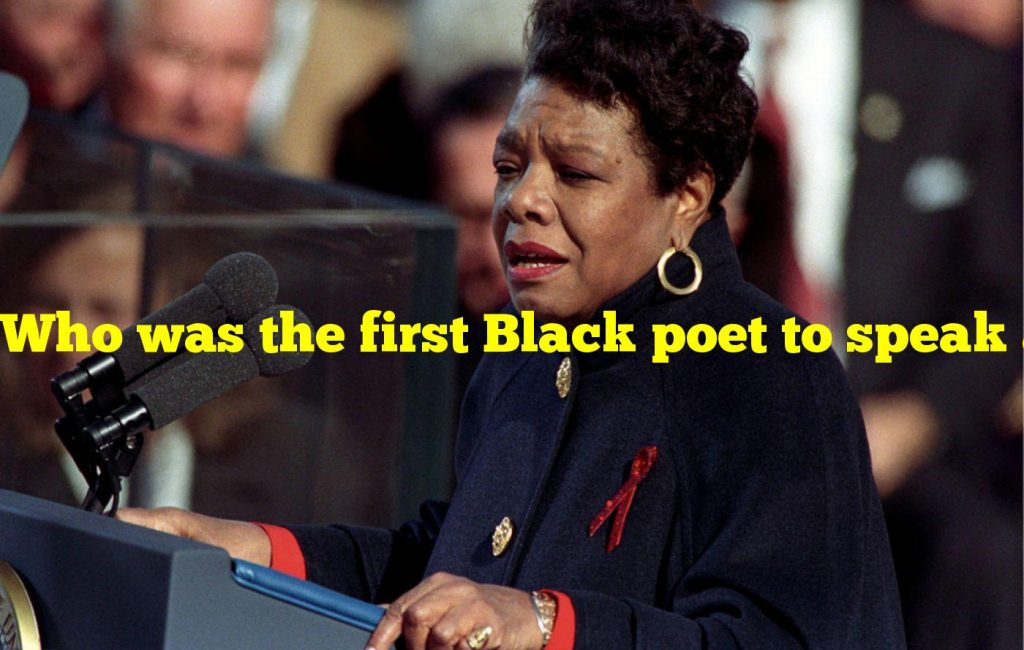 Who was the first Black poet to speak at a presidential inauguration?