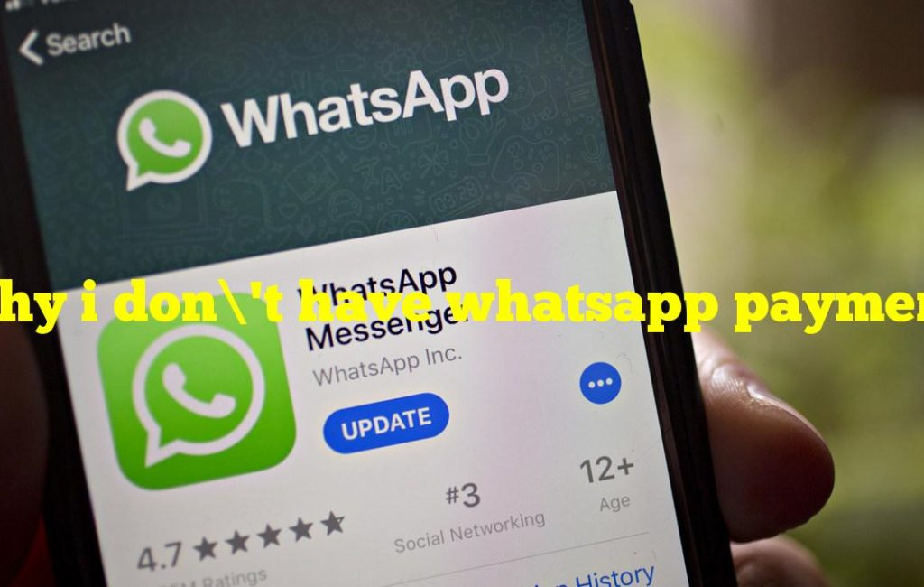 Why i don't have whatsapp payment?