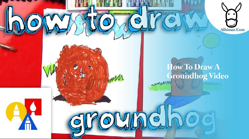 how to draw a groundhog video