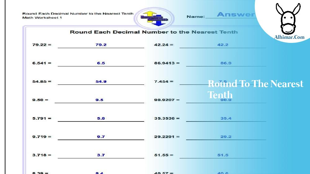 round to the nearest tenth