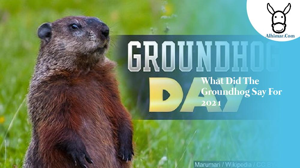 what did the groundhog say for 2021