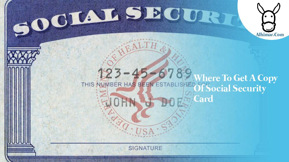 where to get a copy of social security card