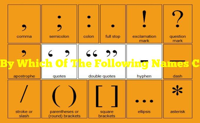 By Which Of The Following Names Can You Refer To This Symbol?