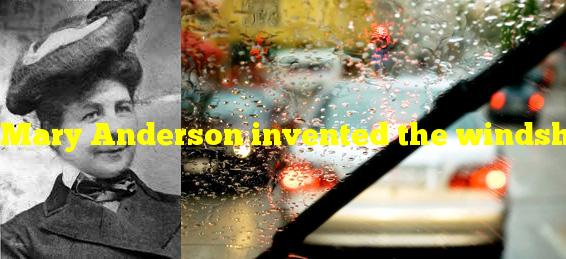 Mary Anderson invented the windshield wiper after being trapped on what?