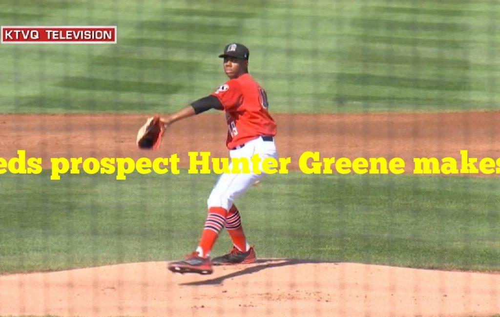 Reds prospect Hunter Greene makes his MLB spring training debut against the Angels