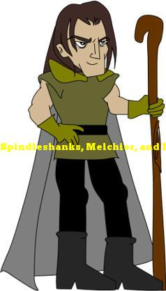 Spindleshanks, Melchior, and Belshazzar are names in what fairy tale?