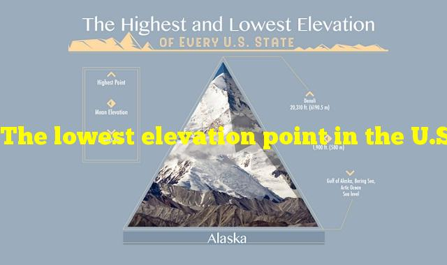 The lowest elevation point in the U.S. is located in which state?