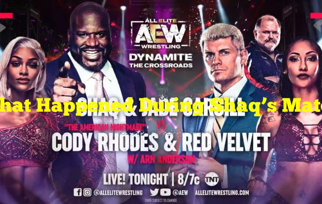 What Happened During Shaq's Match On AEW Dynamite