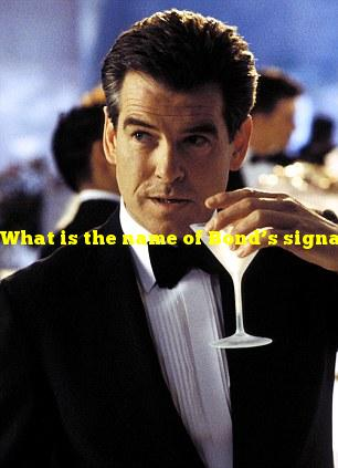 What is the name of Bond's signature vodka martini order?