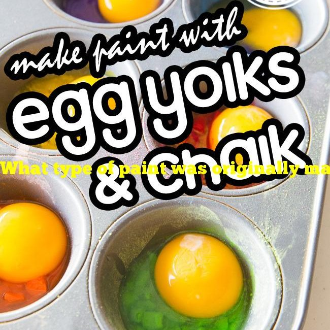 What type of paint was originally made with egg yolks?