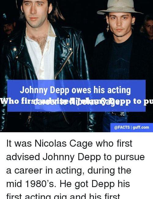 Who first advised Johnny Depp to pursue a career in acting?
