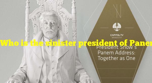 """Who is the sinister president of Panem in """"The Hunger Games""""?"""