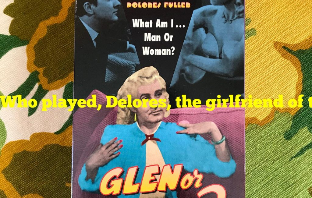 Who played, Delores, the girlfriend of the eponymous lead character in the mostly-true Tim Burton film about the legendary director of notoriously bad movies?