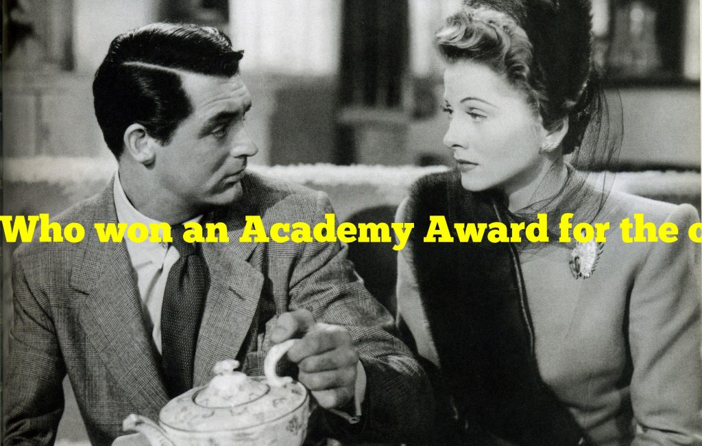 Who won an Academy Award for the only movie he ever directed?
