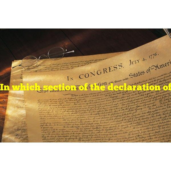 In which section of the declaration of independence does jefferson restate his thesis?