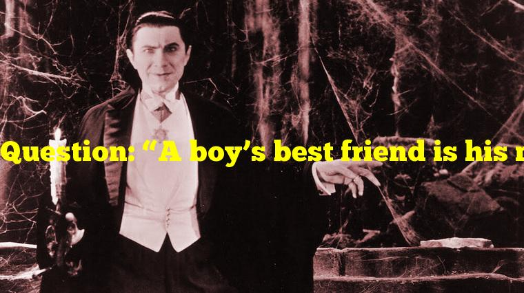 """Question: """"A boy's best friend is his mother"""" is a classic line in what classic horror movie?"""