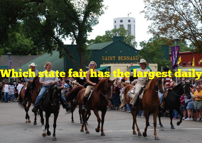 Which state fair has the largest daily attendance?