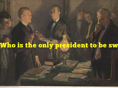 Who is the only president to be sworn in by his father