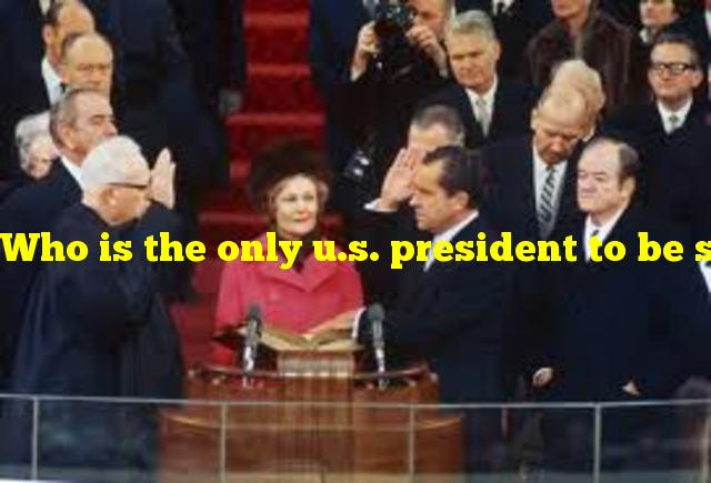 Who is the only u.s. president to be sworn into office by his father?