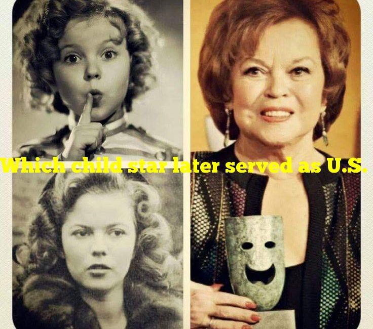 Which child star later served as U.S. ambassador to Ghana?