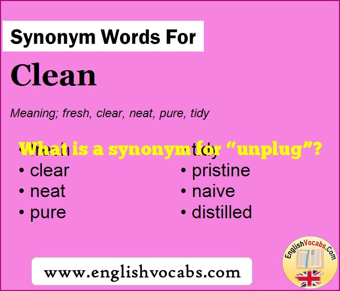 """What is a synonym for """"unplug""""?"""
