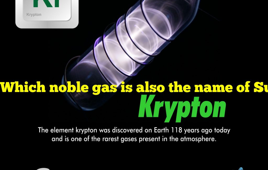 Which noble gas is also the name of Superman's home planet